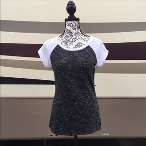 Express Black White Pocket Tee Shirt Cuff Sleeve S